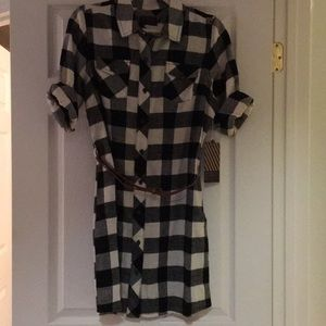 Black and white flannel dress